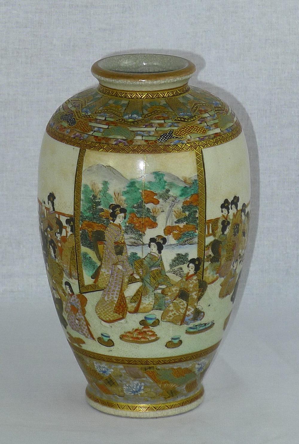 Antiques Atlas - 19th C Signed Japanese Satsuma Vase