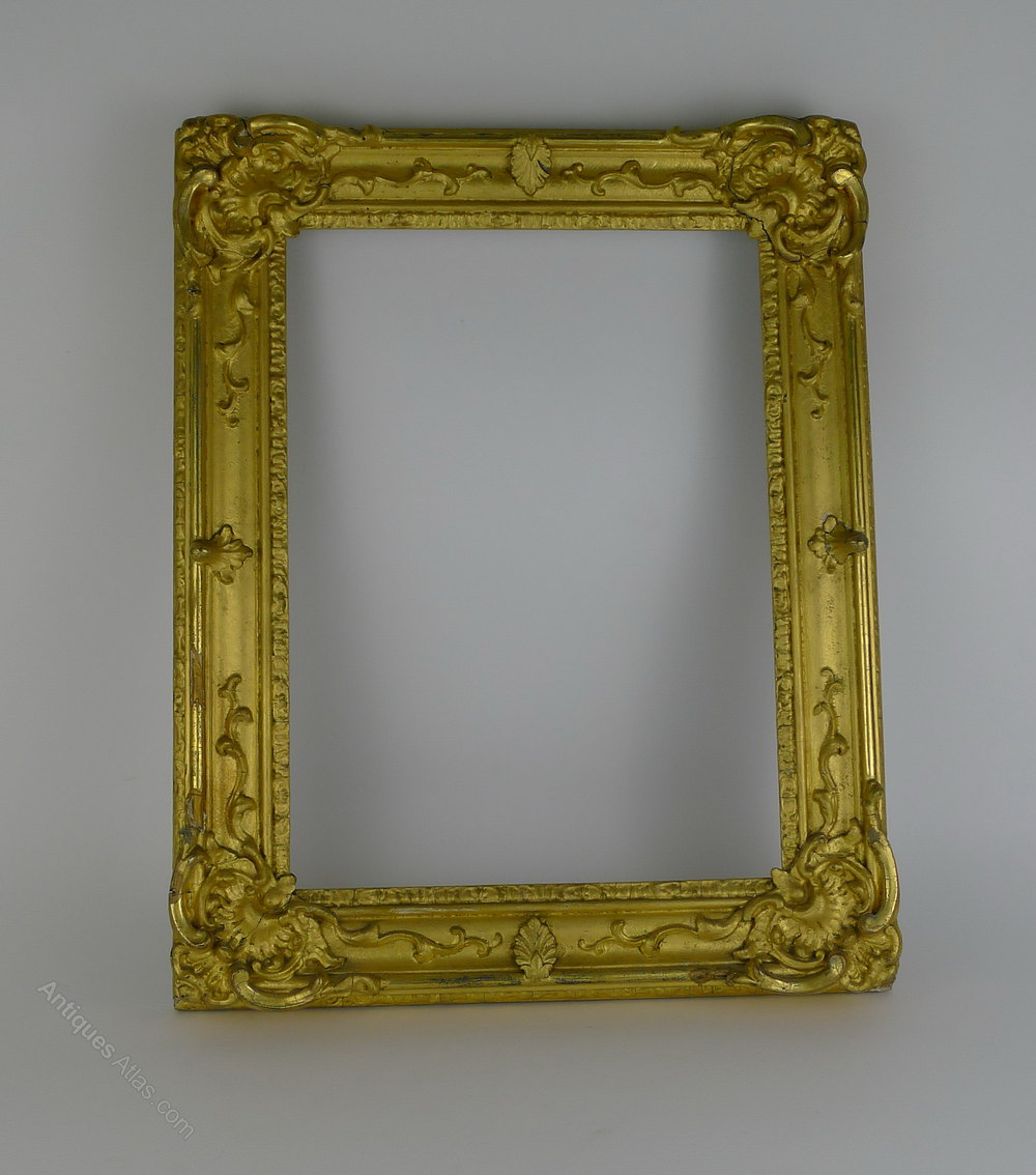 Antiques Atlas 19th Century English Gilt Wood Frame