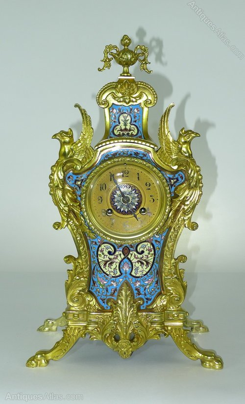 Antiques atlas decorative 19th c french 3 piece clock set for Antique decoration pieces