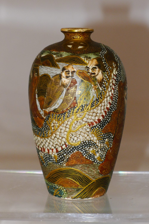 Antiques Atlas Pair 19th C Japanese Satsuma Vases