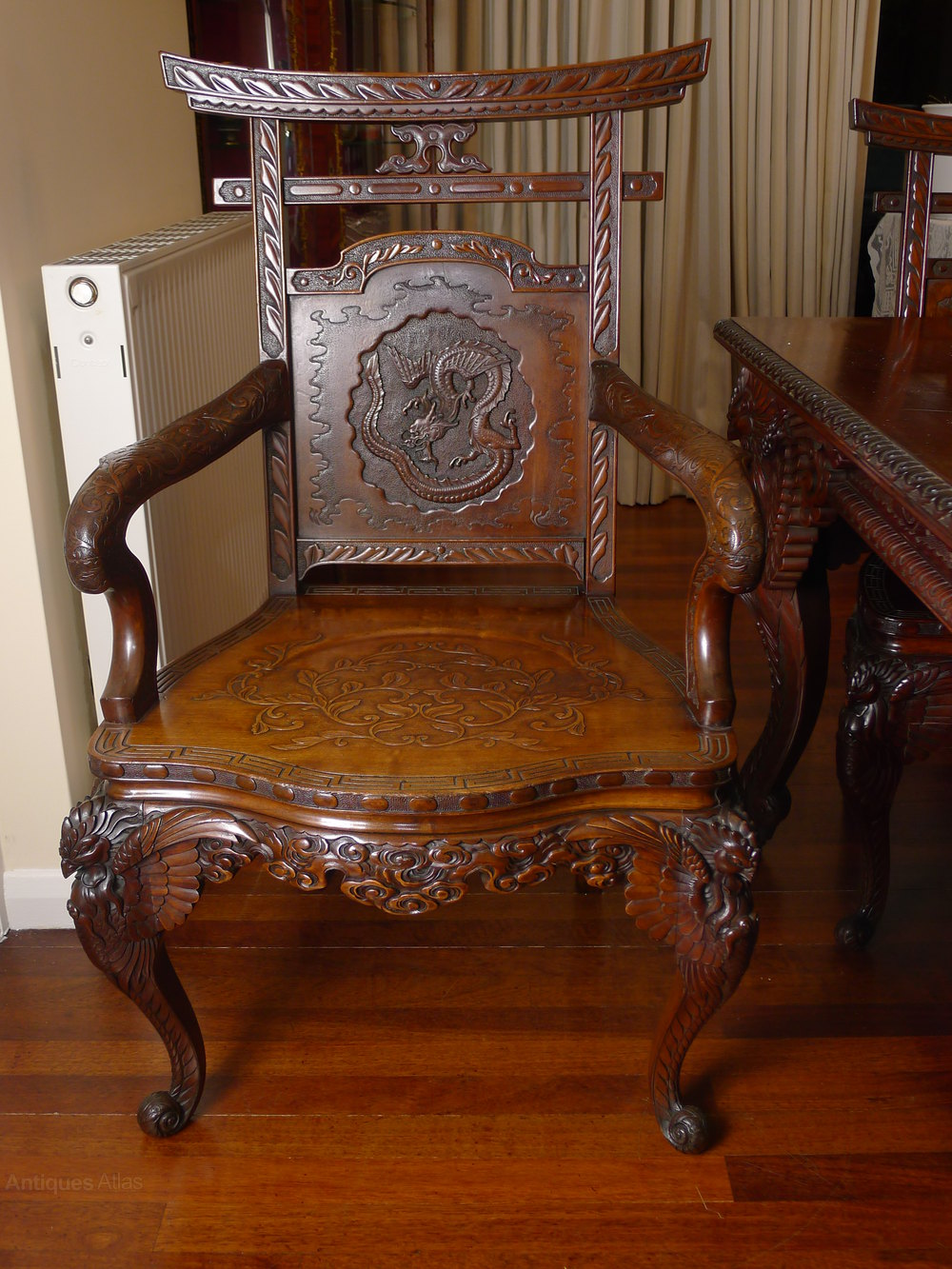 Quality 19th C Japanese Dining Table And Chairs Antiques