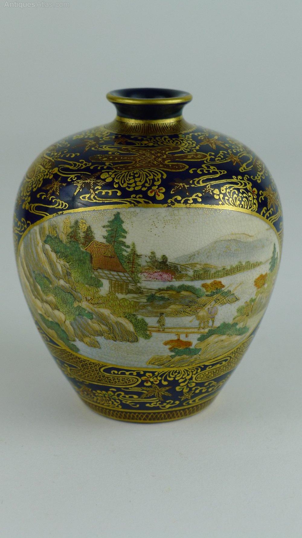 Antiques Atlas Signed 19th C Japanese Satsuma Vase