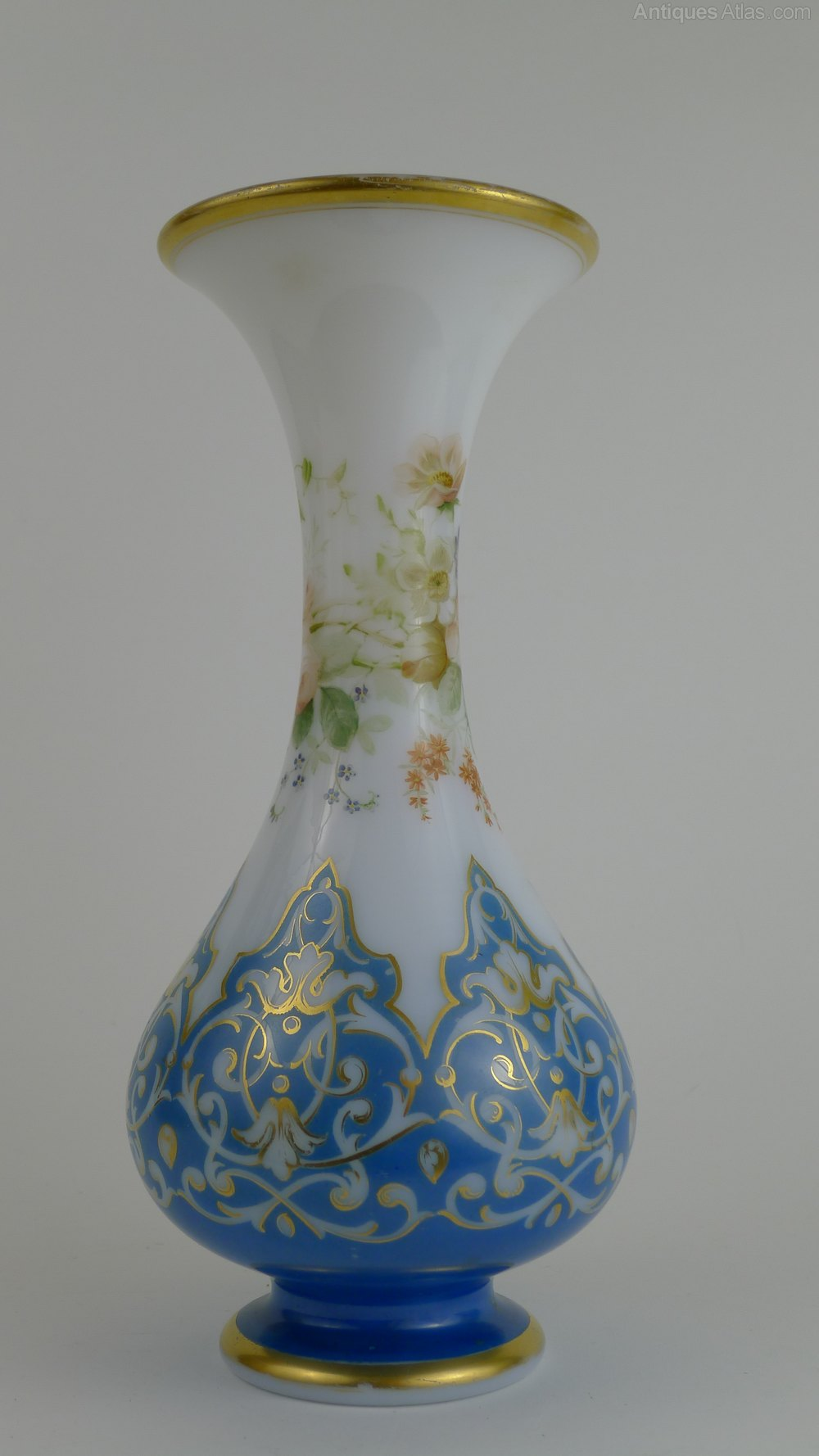 Antiques Atlas Late 19th Century French Opaline Glass Vase