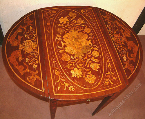 18th Century Dutch Marquetry Pembroke Table Antiques Atlas