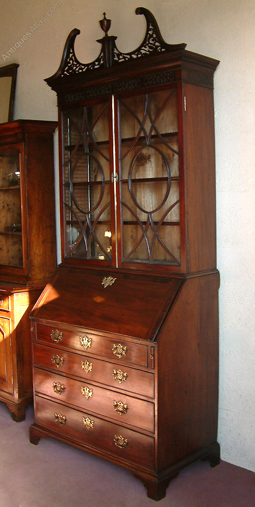 george iii mahogany bureau bookcase antiques atlas. Black Bedroom Furniture Sets. Home Design Ideas