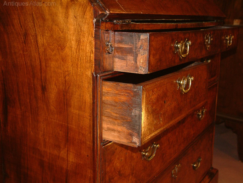 george i burr walnut bureau bookcase c 1720 antiques atlas. Black Bedroom Furniture Sets. Home Design Ideas