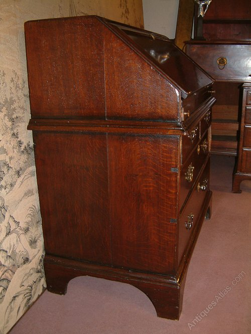 george i oak bureau antiques atlas. Black Bedroom Furniture Sets. Home Design Ideas