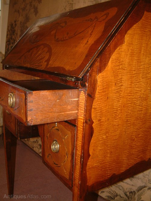 late victorian satinwood bureau antiques atlas. Black Bedroom Furniture Sets. Home Design Ideas