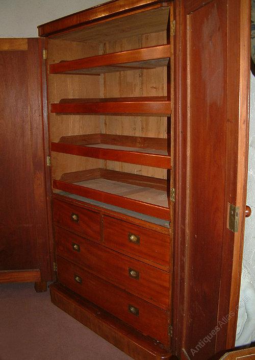 Victorian Mahogany Linen Press Cupboard Antiques Atlas