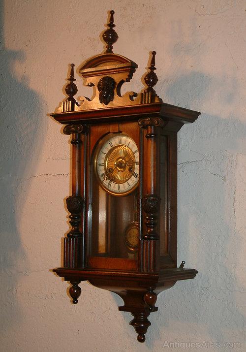 Antiques Atlas Victorian Walnut Wall Clock R A Regulator