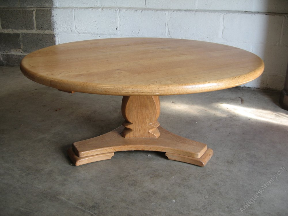Antiques atlas light oak round coffee table for Light oak round coffee table