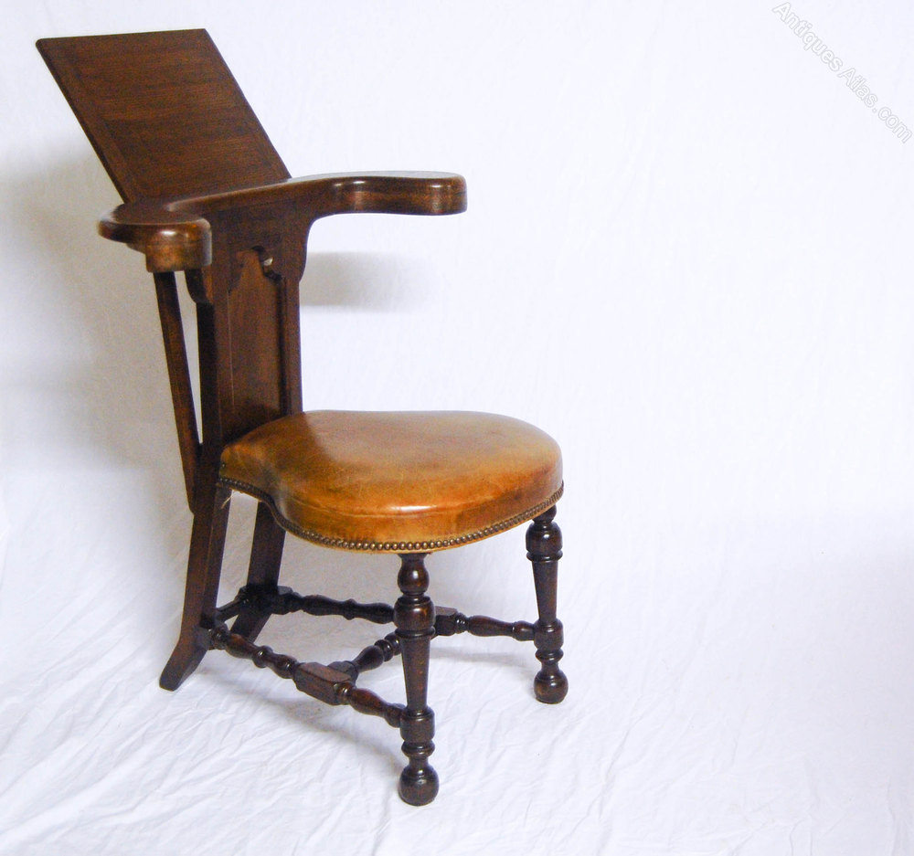 sale a nineteenth century oak reading chair or cock fighting chair