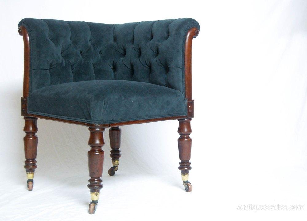 late victorian velvet mahogany corner chair antiques atlas