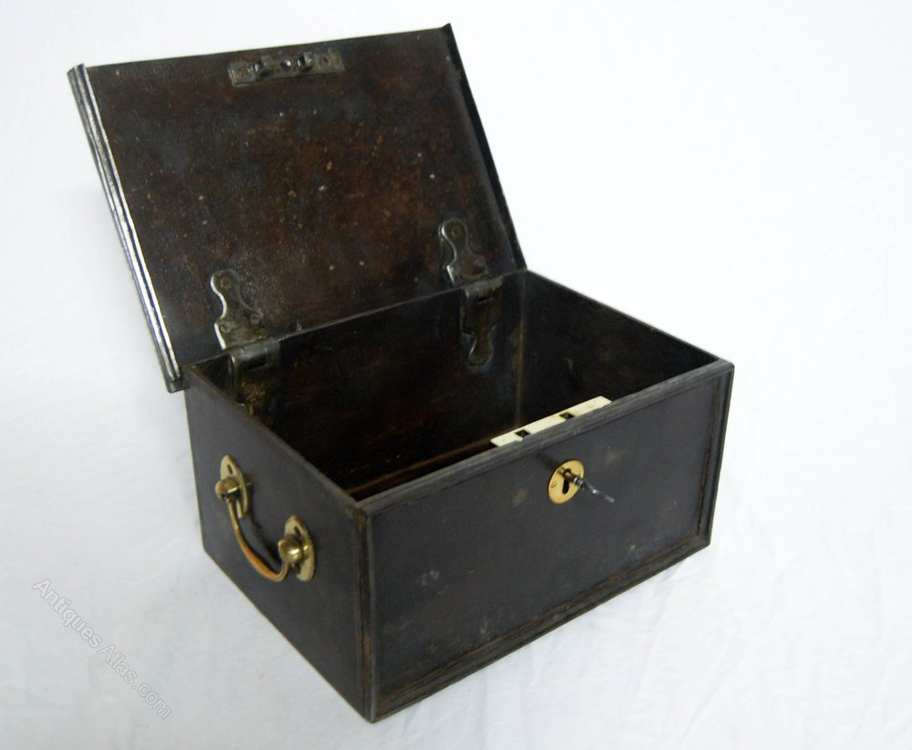Antiques Atlas Regency Cast Iron Strong Box Or Safe