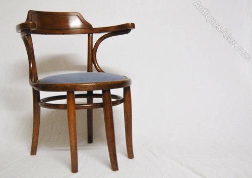thonet bentwood desk chair schreibtischfauteuil n3 antiques atlas. Black Bedroom Furniture Sets. Home Design Ideas