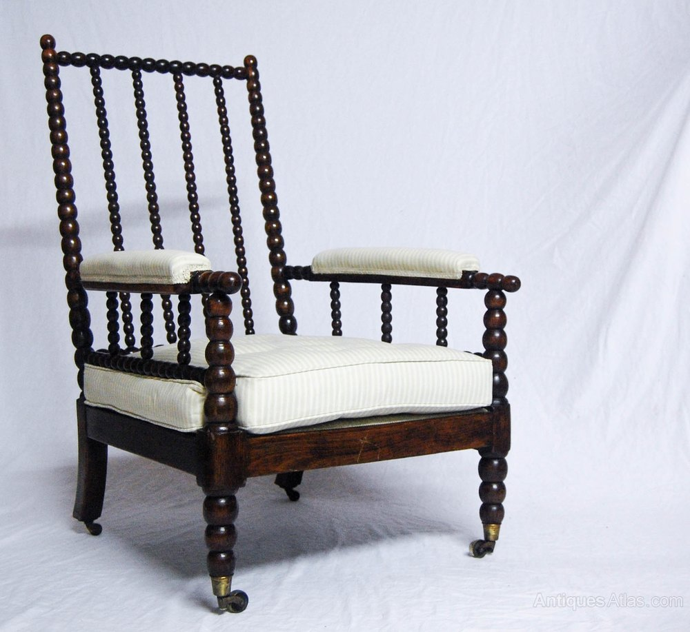 william iv bobbin chair with cope 39 s patent castors antiques atlas
