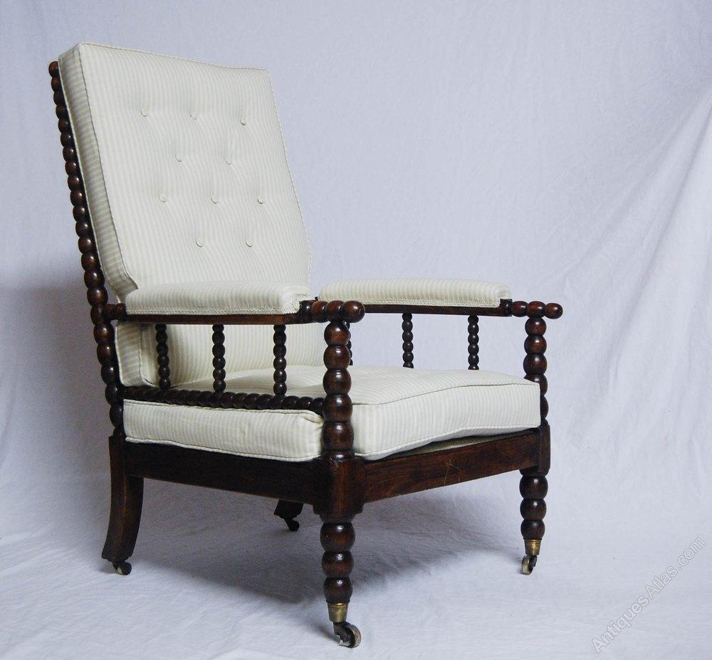 William IV Bobbin Chair With Cope s Patent Castors