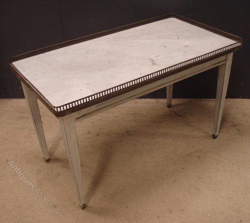Antique French Marble Top Coffee Table: French Marble Top Coffee Table