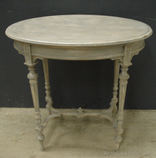 French Oval Side Table Antique Occasional Tables ...