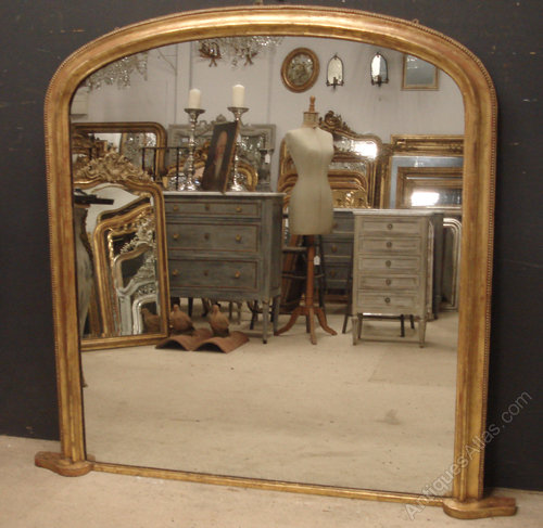 Antiques Atlas - Large Victorian Overmantle Mirror