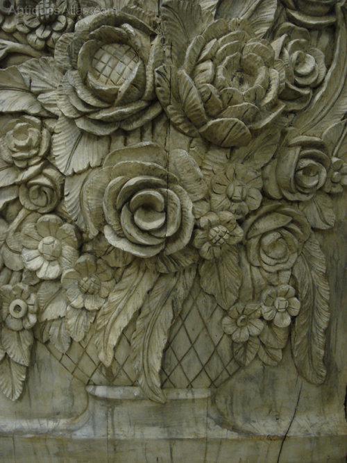 Antiques Atlas Large Carved Wood Decorative Panel