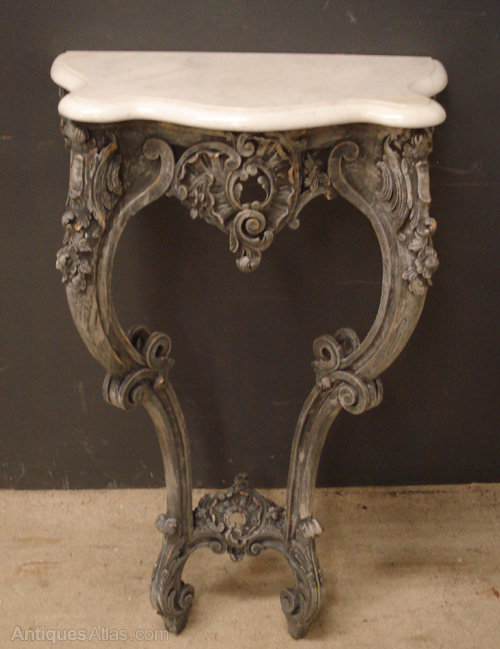 Louis xv style carved wood console table antiques atlas