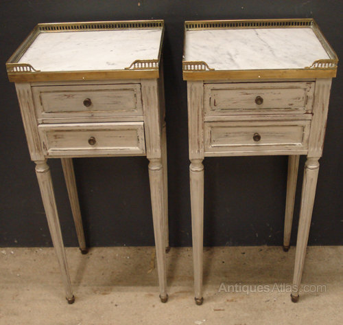 Pair of French bedside cabinets ... - Antiques Atlas - Pair Of French Bedside Cabinets