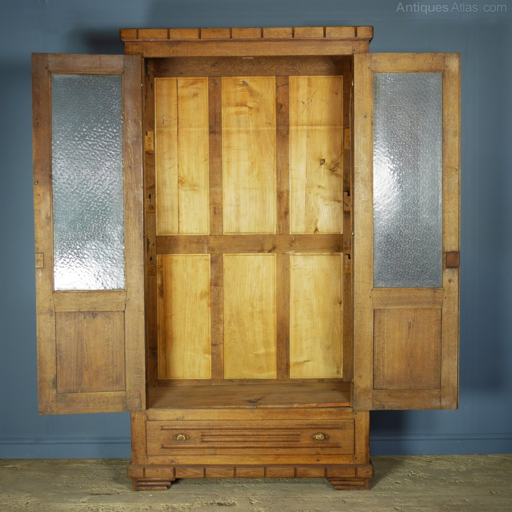 School Wooden Cabinets ~ Glazed school oak cabinet antiques atlas