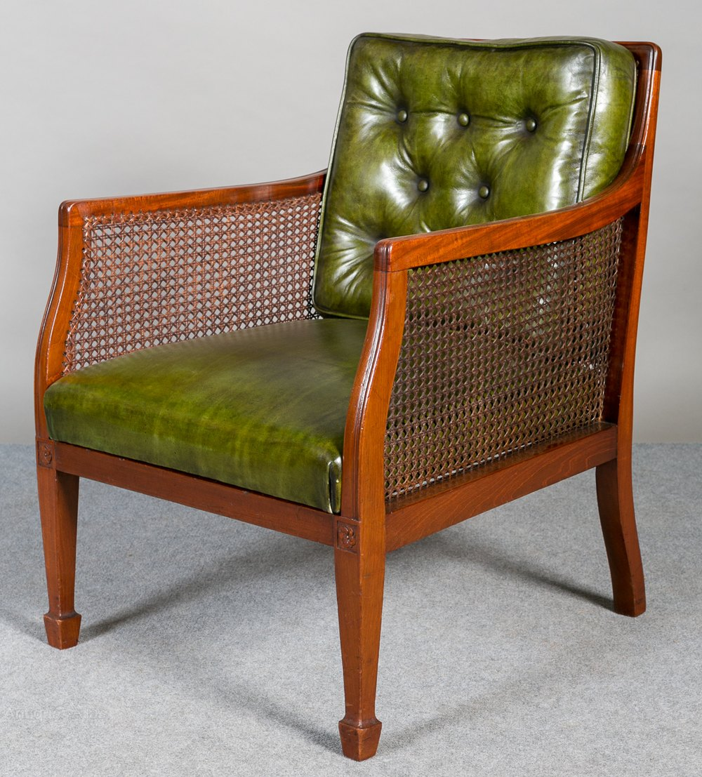 Bergere Library Armchair Antiques Atlas