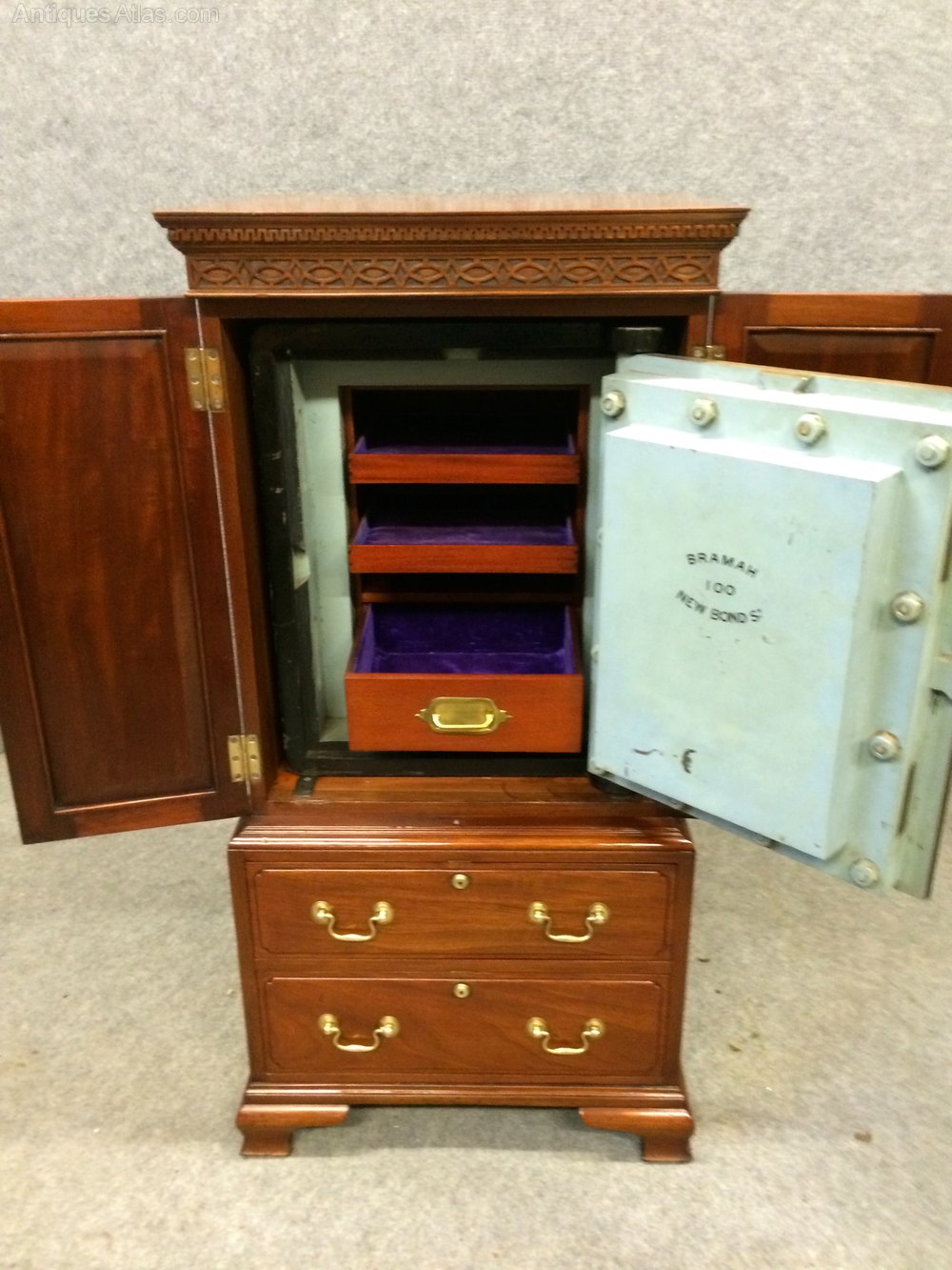 Antiques Atlas Bramah Safe Cabinet
