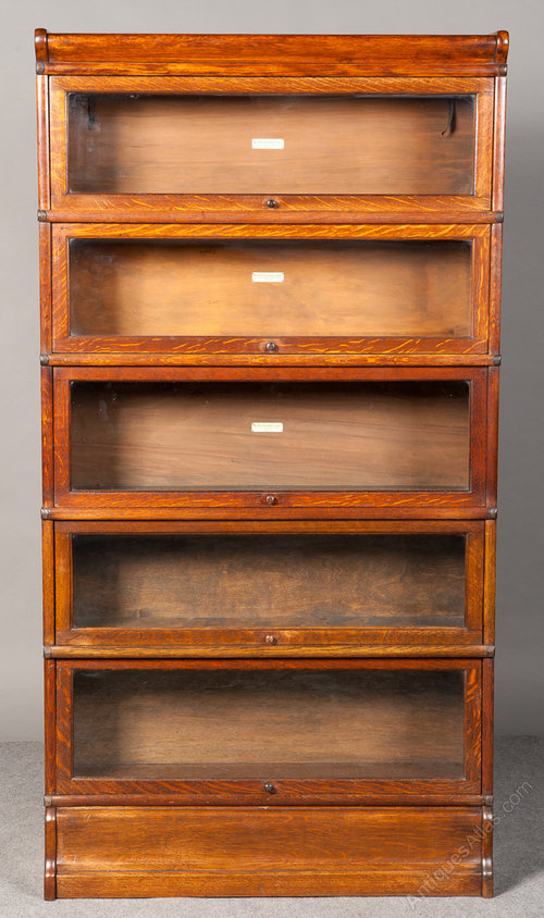 Golden Oak Globe Wernicke Bookcase Antiques Atlas