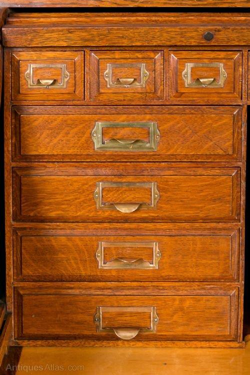 Grand Oak Roll Top Desk Antiques Atlas