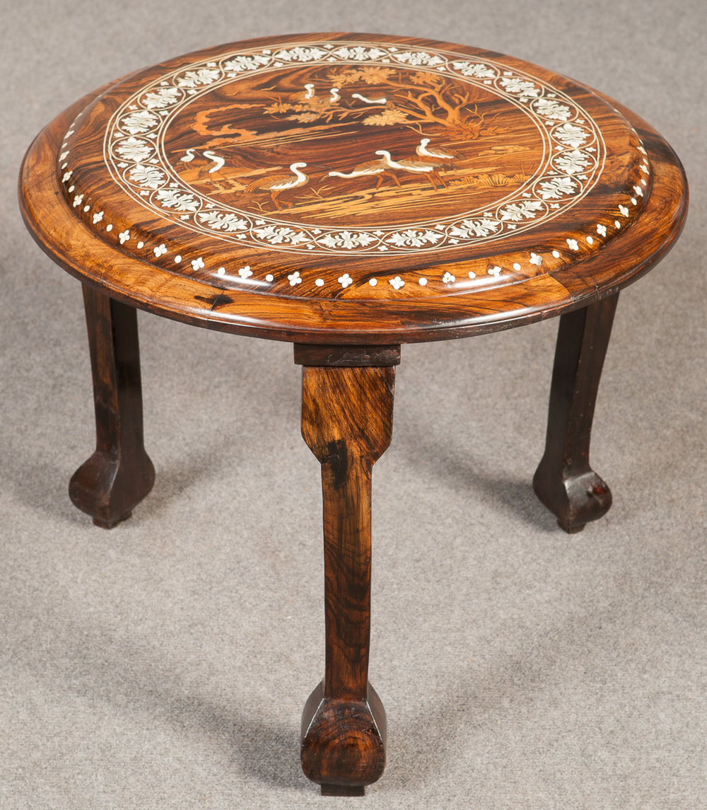 Occasional Tables: Indian/Asian Inlaid Occasional Table