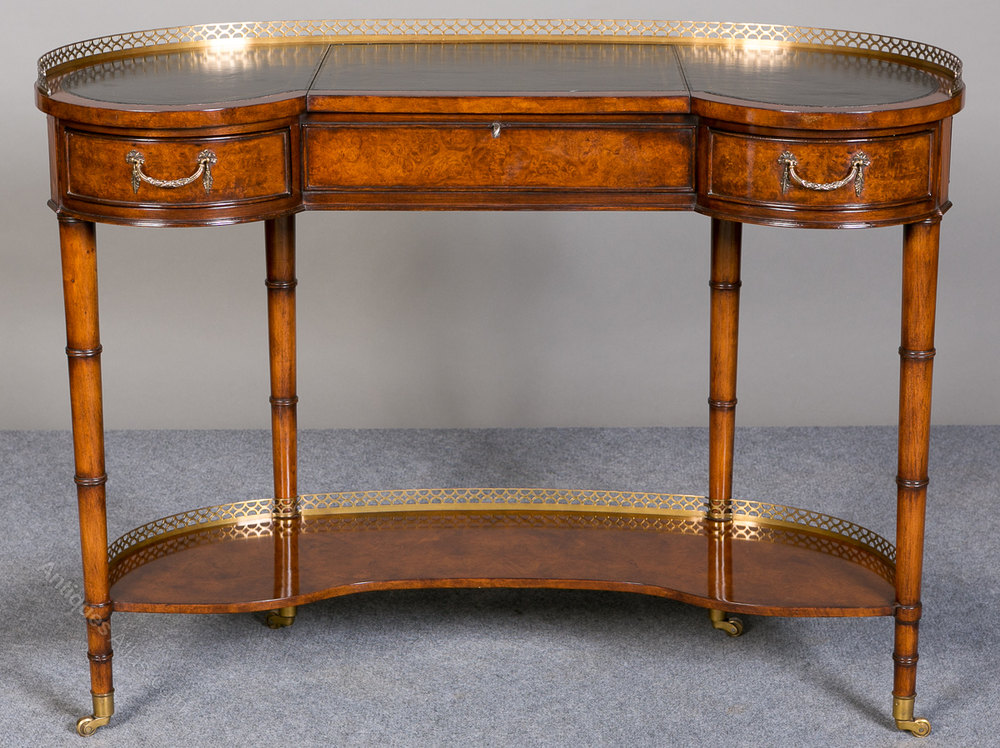 Kidney shaped writing table desk antiques atlas