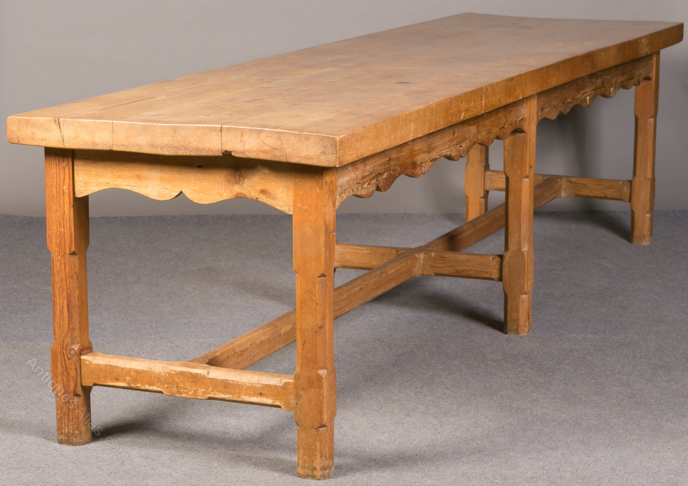 Large Country House Pine Refectory Table Antiques Atlas