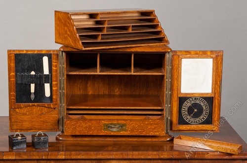 Antiques Atlas Oak Stationary Cabinet Writing Box