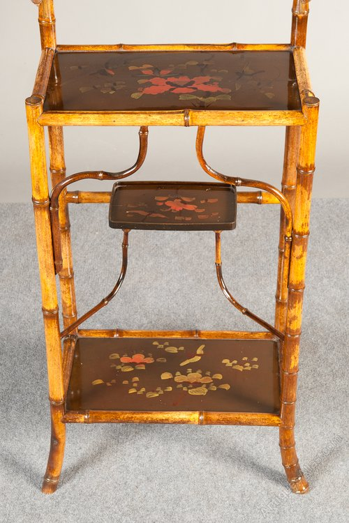 Oriental Bamboo Amp Lacquer Display Stand Whatnot