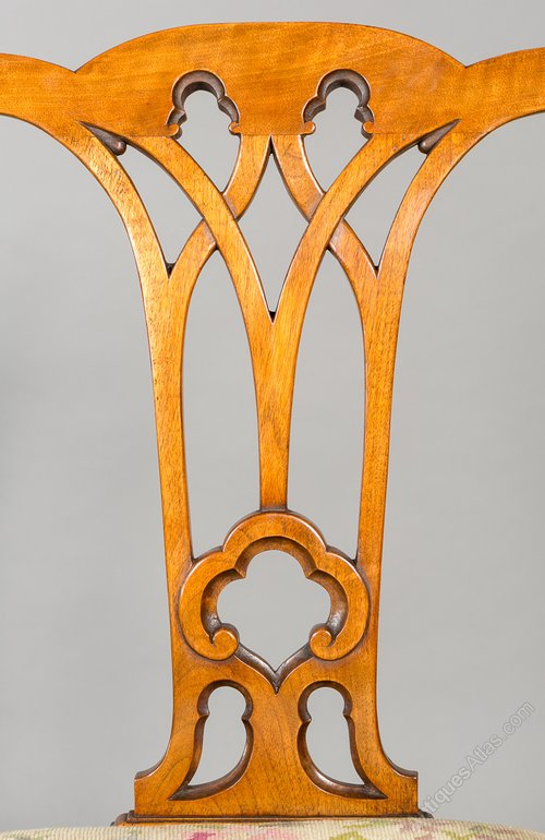 Pair Of Chippendale Style Elbow Chairs Antiques Atlas