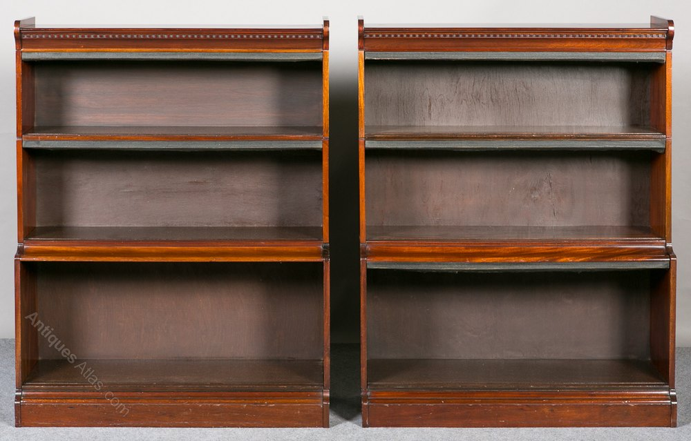 Pair of minty open bookcases antiques atlas