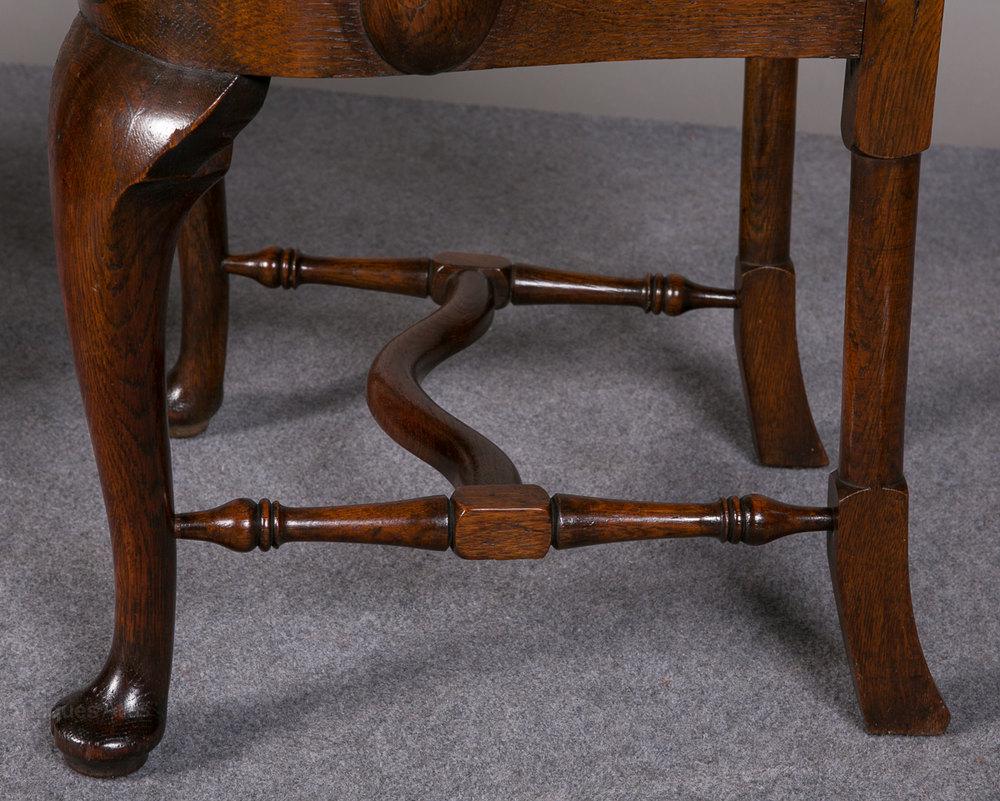 Pair Of Oak Elbow Chairs Antiques Atlas