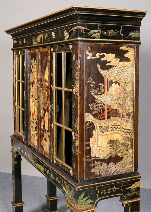 Unusual 19th Century Chinese Chinoiserie Cabinet