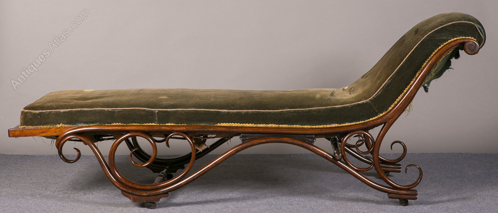 Unusual bentwood day bed chaise antiques atlas for Chaise bentwood