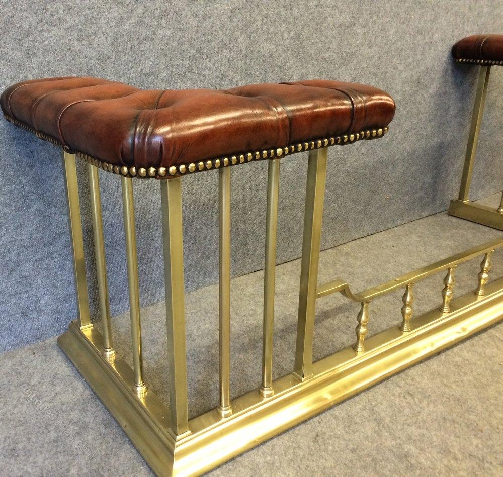 antiques atlas victorian brass club fender