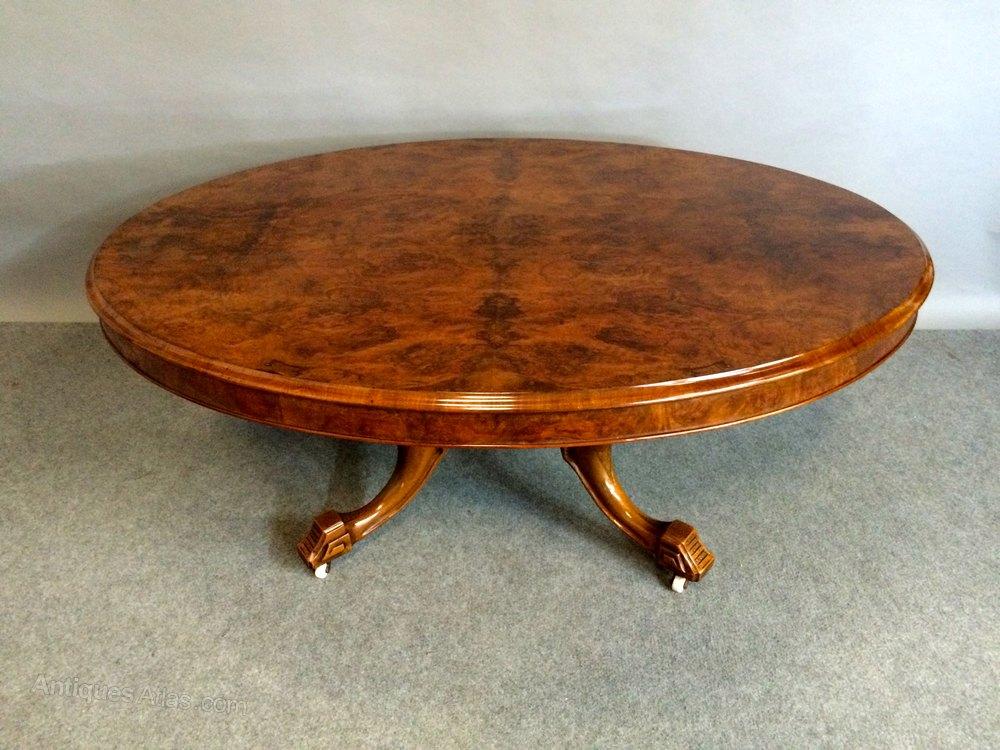 Victorian Burr Walnut Coffee Table Antiques Atlas