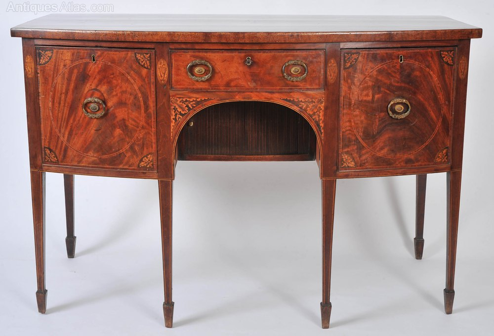 Early19thC English Mahogany Bow Fronted Sideboard