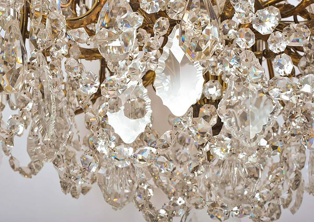 Antiques Atlas Mid 19th C Ormolu And Crystal Chandelier