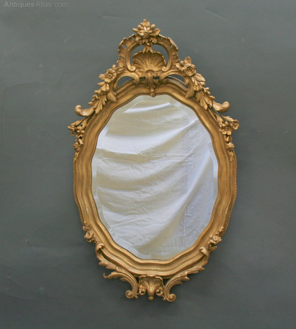 Antiques atlas c19th french gilt mirror for What is a gilt mirror