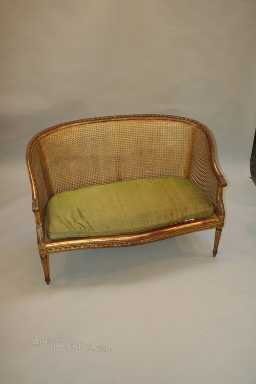 French gilt sofa canape antiques atlas for Canape in french