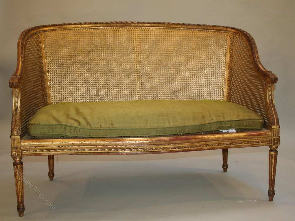 French gilt sofa canape antiques atlas for Canape french