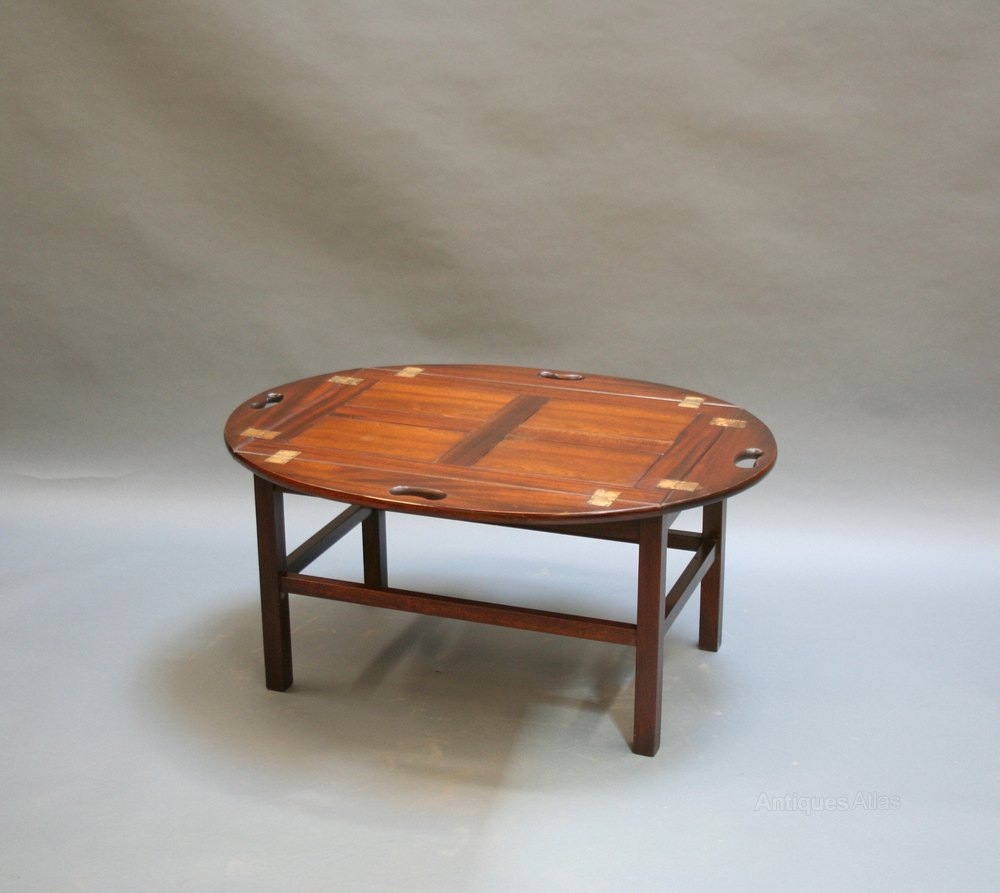 Georgian Revival Butlers Tray Coffee Table ...